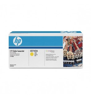 HP 307A (CE742A) Original Toner Cartridge - Yellow - Laser - 7300 Pages - 1 Each