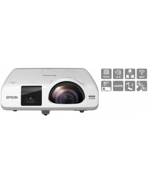 Epson EB-535W Short Throw LCD Projector 3400 ANSI Lumens HDMI USB WXGA 1 year warranty