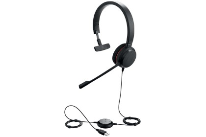 Jabra EVOLVE 20 Wired Stereo Headset Music Over-the-head Supra-aural USB Noise Canceling