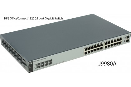 HPE OfficeConnect 1820 24 port Gigabit Switch J9980A 2 SFP 128 MB SDRAM 52 Gbps