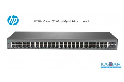 HPE OfficeConnect 1820 48G Layer 2 Switch (J9981A) 4 SFP 128 MB SDRAM Lifetime Warranty
