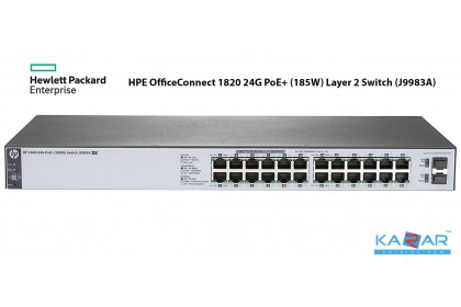 HPE OfficeConnect 1820 24G PoE+ (185W) Layer 2 Switch (J9983A)