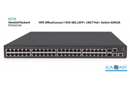 HPE OfficeConnect 1950 48G 2SFP+ 2XGT PoE+ Layer 3 Stacking Switch JG963A
