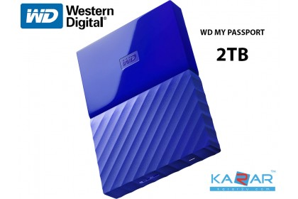 WD My Passport 2 TB Portable External HDD Hard Drive USB 3.0 - Blue