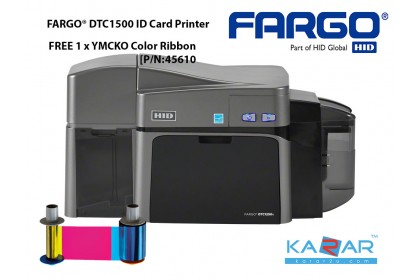 FARGO DTC1500 ID card printer CR-80 CR-79 Dual-sided printing 300 dpi 100 card